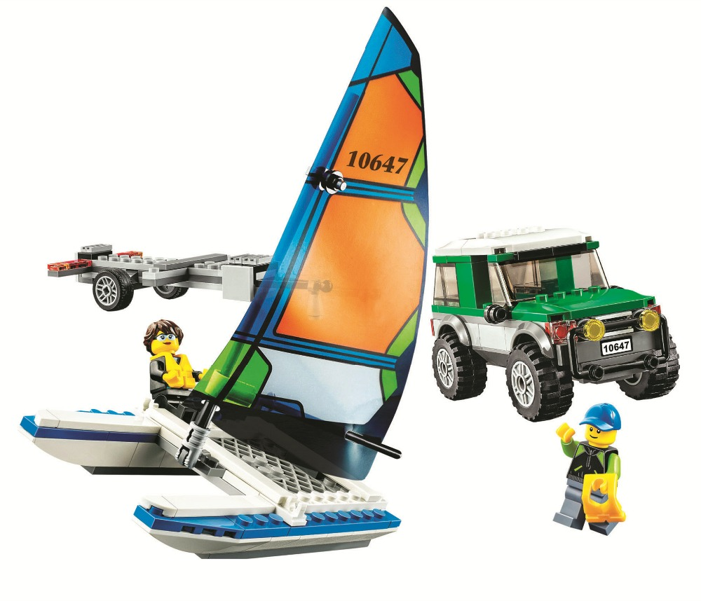 LEPIN City Great Vehicles 4x4 with Catamaran Building Blocks Sets Bricks Kids Model Kids Toys Marvel Compatible Legoings lepin city town city square building blocks sets bricks kids model kids toys for children marvel compatible legoe