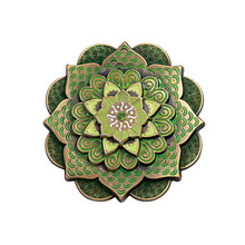 Chinese lotus shape commemorative coin of fashion trend