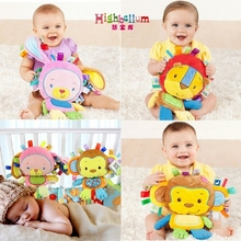 Baby Toys Rattles Pacify Doll Plush Baby Pillow Animal Hand Bells Sleeping Bed Pillow Newborn Animal Rattles Bed Pillow Toy