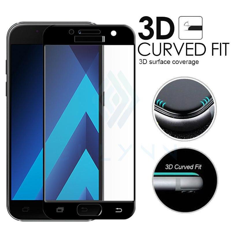 2018 Pleine Couverture 3D Bord Incurvé En Verre Trempé Pour Samsung Galaxy A3 A5 A7 A6 A8 Plus 2017 20181 Écran protecteur De Protection