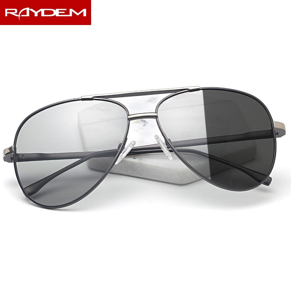 2018 New Pilot Polarized Men Photochromic Sunglasses Male Oculos De Sol Feminina Oval frame Aviation Color