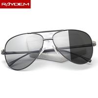 2018 New Pilot Polarized Men Photochromic Sunglasses Male Oculos De Sol Feminina Oval frame Aviation Color change Sun Glasses