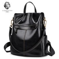 LAORENTOU Brand Women Backpack for School Style Female High Qulaity Shoulder Bags Student Bag for Teenage Girls