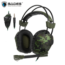 Sades SA921 Plus Gaming Headset PS4 casque 3.5mm Stereo Headphones with Mic for Mobile Phone TV Laptop PC Gamer fones de ouvido