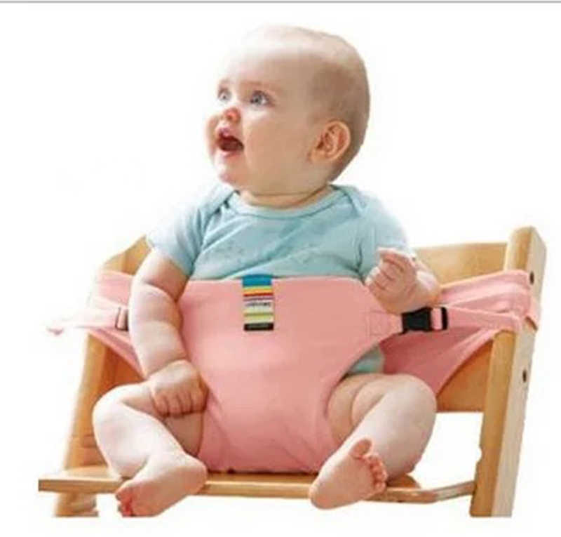 Baby chair seat comfortable seat belt baby portable feeding belt baby high chair seat belt lever with cover