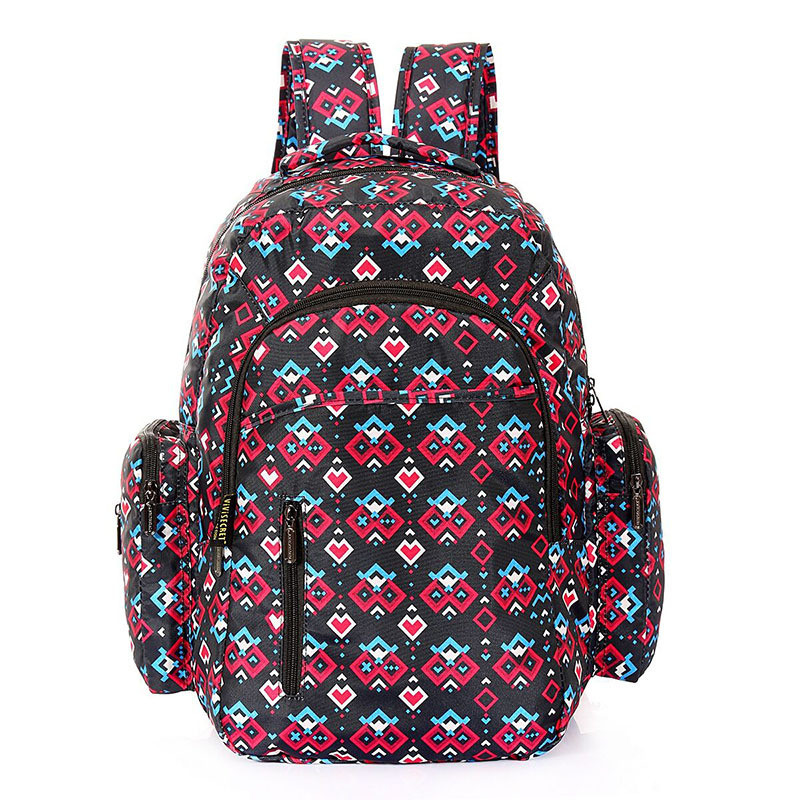 Fashion Print Multifunctional Large Capacity Double Shoulder Mother Bags Mummy And Kids Pack Pregnant Women Tracel Backpack