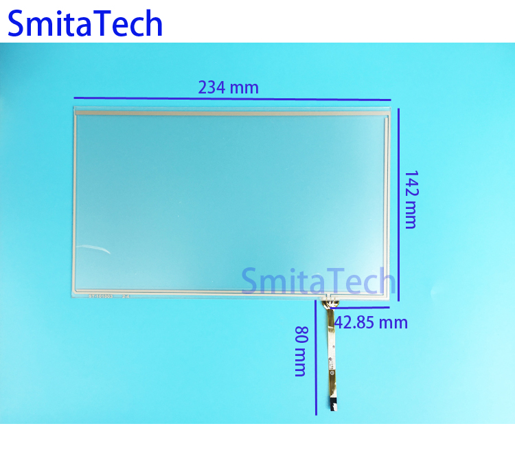 10.1'' inch 234mm*142mm 4wire Resistive Touch screen Digitizer panel ST-101003 234x142mm touch screen panel new 3 5 inch 4wire resistive touch panel digitizer screen for texet tn 300 gps free shipping