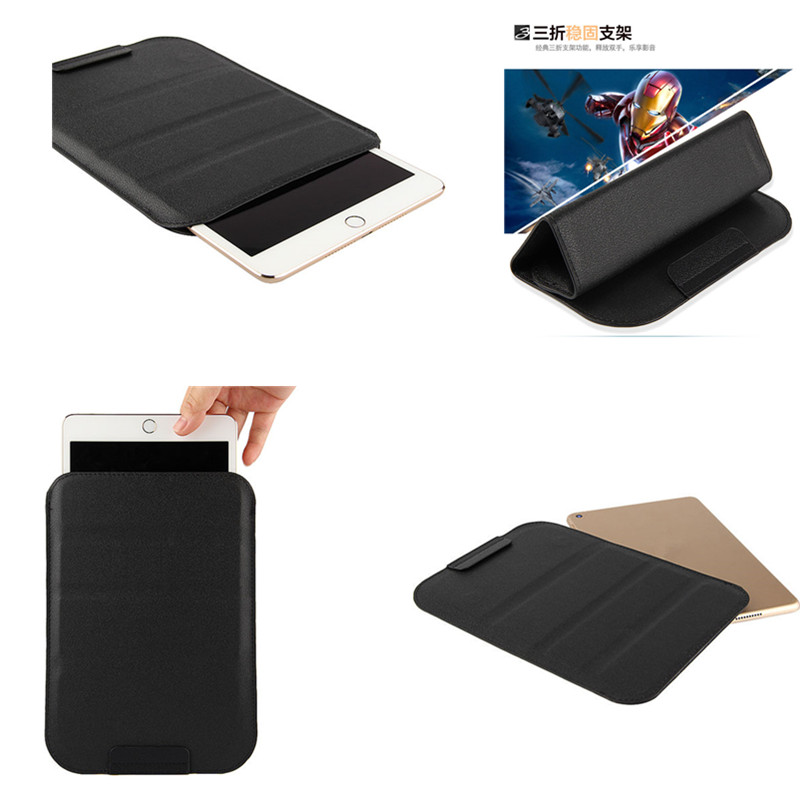 SD Carry Sleeve Case Business Folding PU Leather Cover for Samsung Galaxy Tab 4 10.1 inch T530 T531 T535 (SM-T530) Pouch Bag