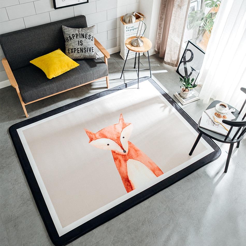 Cartoon Rugs For Bedroom Crystal Velvet Rugs And Carpets For Home Living Room Clean Step Mat Modern Design Kids Room Carpet