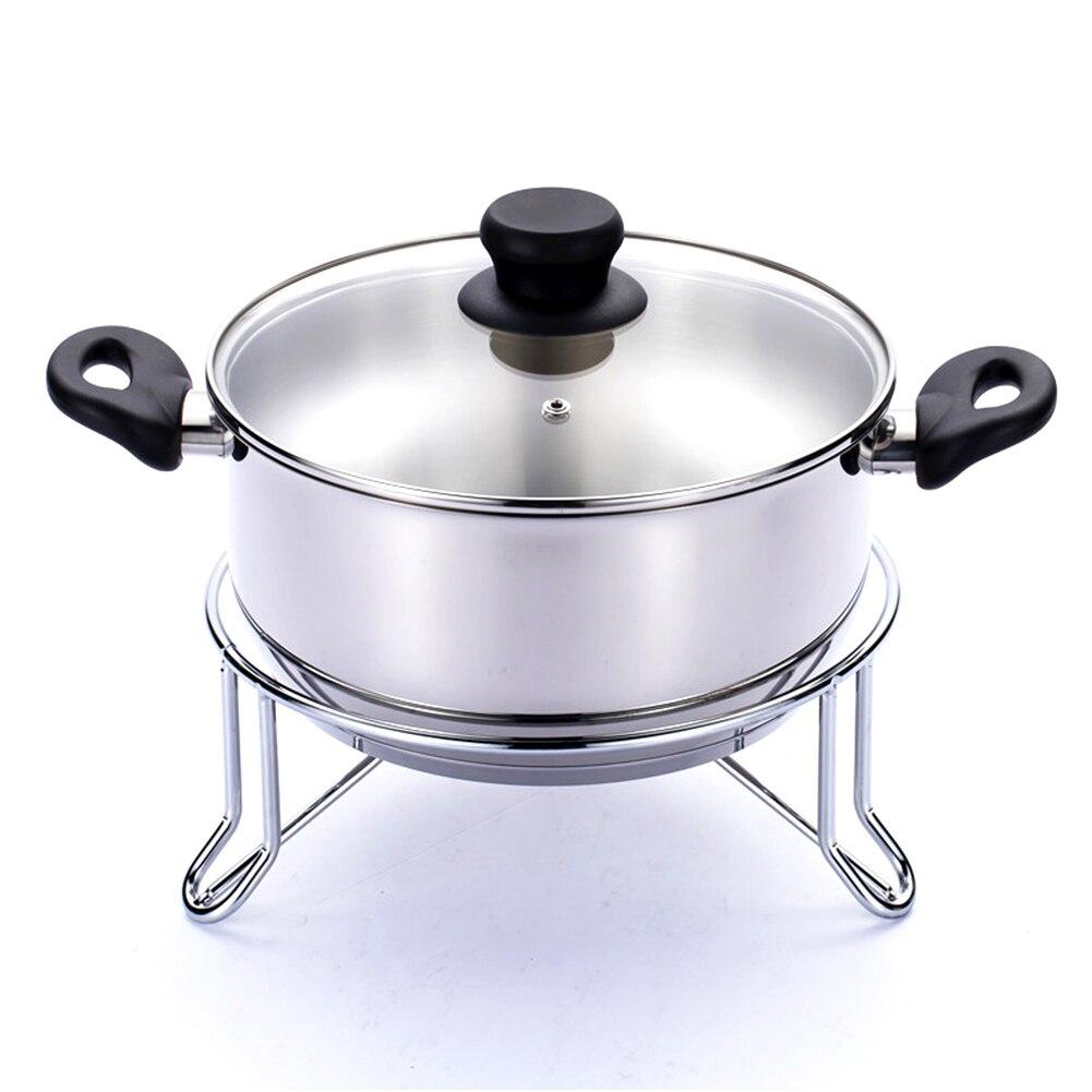Non Slip Round Thicken Steamer Rack Heat Resistant Tasteless Stainless Steel Rustproof Practical Delicate Kitchen Safe Storage