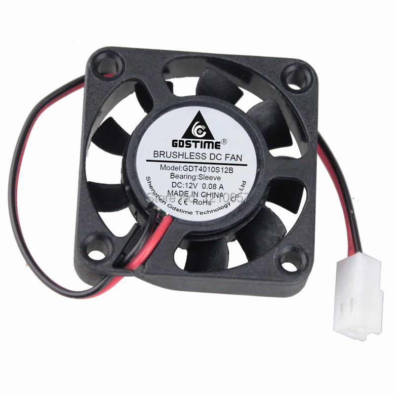 Купить с кэшбэком 10 Pieces LOT Gdstime 40mm 40 x 40 x 10mm 4010s 12V 2Pin 2510 Connector Cooling Cooler DC Fan