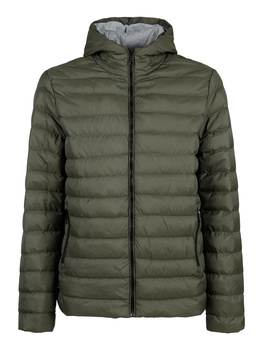 Hooded padded jacket-Green
