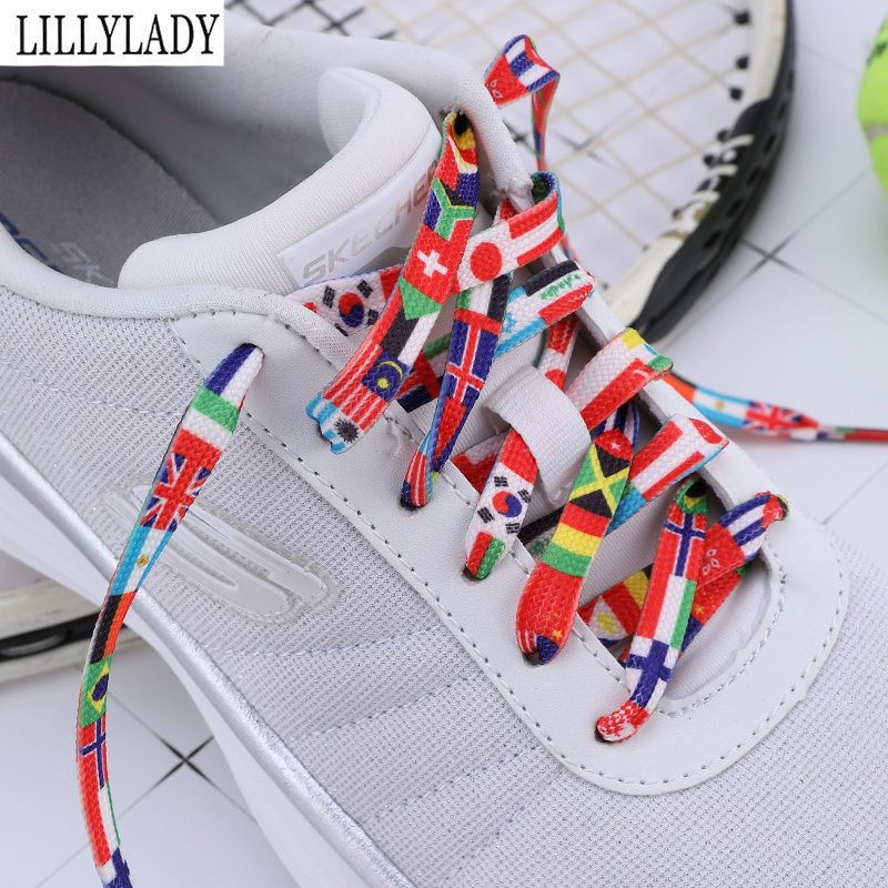 Fashion Shoelace National Flag Rainbow Color Sneakers Sports Shoe Laces Shoelace Casual Athletic Men Woman ShoeLaces For Shoes