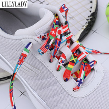 Fashion Shoelace National flag Rainbow color Sneakers Sports Shoe laces Casual Athletic men woman ShoeLaces For Shoes