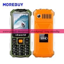Оригинал Vkworld Камень V3S Мобильного Телефона Ежедневно Водонепроницаемый Пыленепроницаемый Небьющиеся Старшие Телефоны 2.4 дюймов QCIF 240*320 Две СИМ-Карты FM