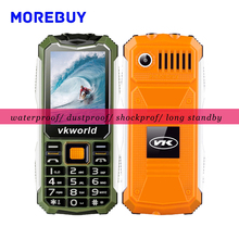 Original Vkworld Stone V3S Cellphone Daily Waterproof Dustproof Shatterproof Elder Phones 2.4 inch QCIF 240*320 Dual SIM Card FM