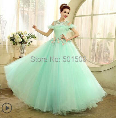 floral lace gown belle ball gown sissi long medieval dress ...
