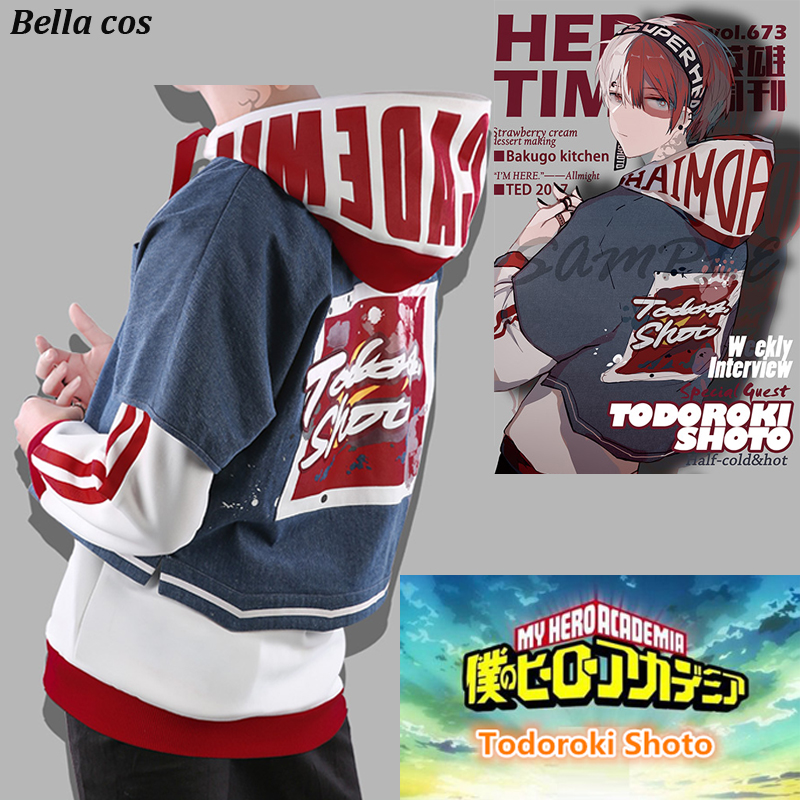 Hot Sales Anime My Hero Academia Todoroki Shoto Cosplay Costume Weekly Interview Coat Pants Hoodies Accessories Daily Uniform