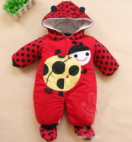 2016 Baby Winter Jumpsuit Hat Shoes Animal Style Hooded Baby Rompers Boys Girls Clothes Outfits Newborn