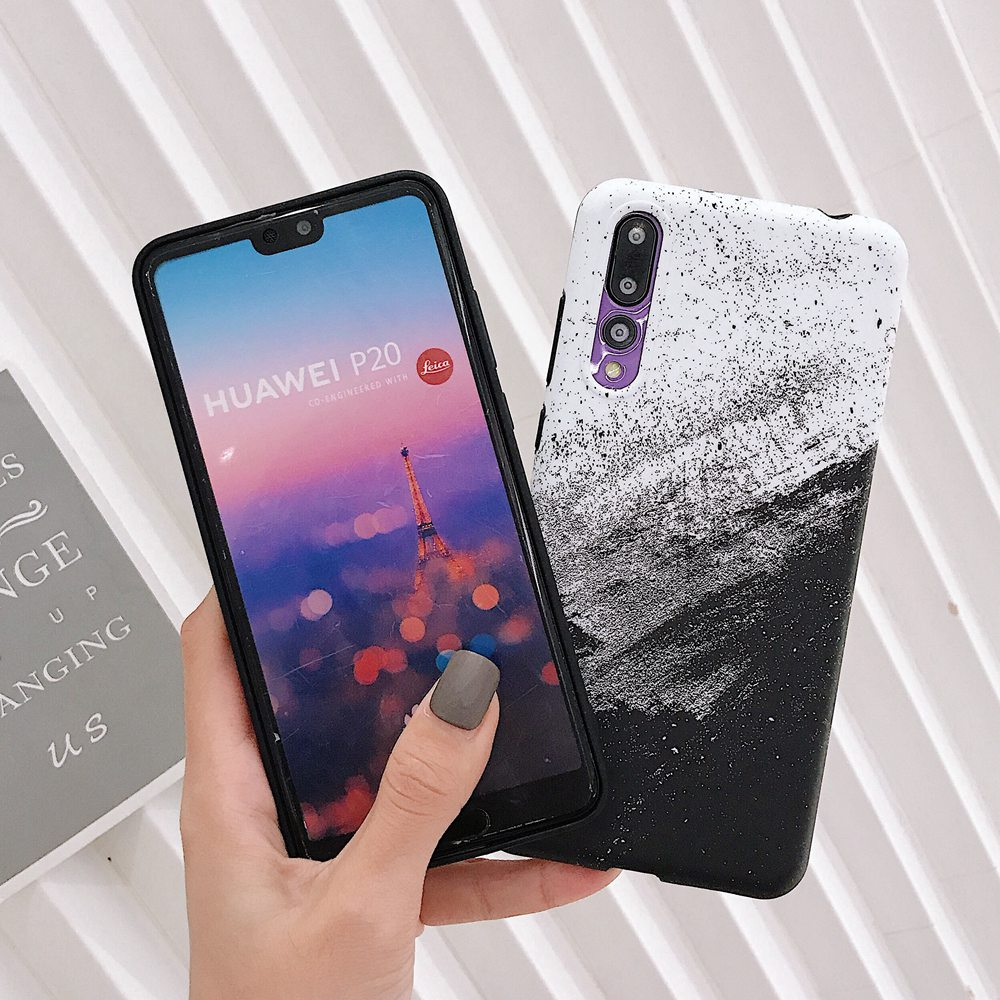 Vintage Simple Art Sand Painting Phone Case For Huawei Honor 10 9 P20 Lite P20 Pro Nova 3 3E 2s Soft TPU Cover Matte Case Coque in Fitted Cases from Cellphones Telecommunications