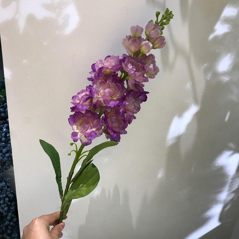 JAROWN Artificial Single Violet Flowers Bouquet Decorative Silk Flowers Table Arrange For Wedding Home Party Decoration Accessor