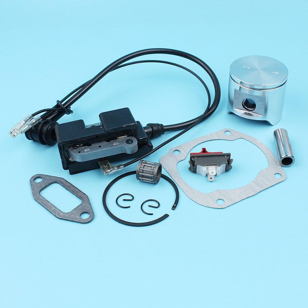 48mm Piston Kit Ignition Module Coil Needle Bearing Kit For Jonsered CS2165  2065 2165 Husqvarna 365 EPA Chainsaw 503 69 13-03