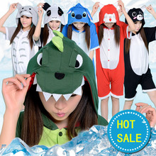 Summer Cartoon Animal Dinosaur Panda Bear Koala Pikachu Onesie Adult Unisex Cosplay Costume Pajamas Sleepwear For Men Women