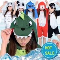 Summer Cartoon Animal Short Sleeve Onesies Sleepwear For Women Adults Unisex Pajamas Cosplay Costume Pikachu