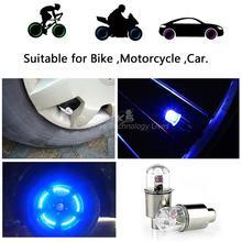 2PCS Firefly Spoke LED Wheel Valve Stem Cap Tire Motion Neon Light Lamp For Bike Bicycle Car Motorcycle~