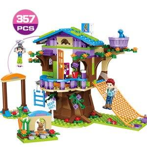 Image 2 - 534 шт. девушка город серии туристический Camper автобус модель автомобиля DIY Строительные блочные фигурки друзей Кирпичи подарок на день рождения игрушки для девочек