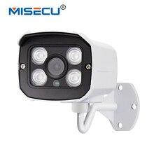 MISECU 48VPOE 1280*720P 1.0MP 4pcs Array IR cut IP Camera POE Bullet ONVIF Waterproof Out/indoor Night Vision P2P Plug&Play cctv