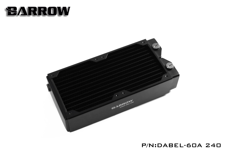 Barrow Dabel-60a Dabel 240mm 2 x 12cm 60mm Height Copper Radiator Water Cooling barrow dabel 60a dabel 120mm 12cm 60mm height copper radiator water cooling