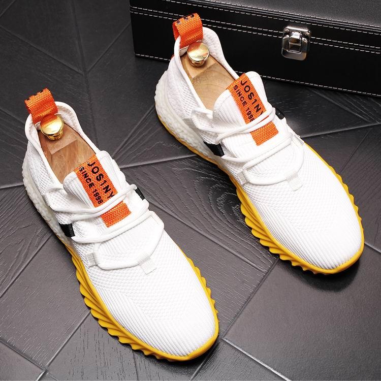 ERRFC الأزياء مصمم رجل وهتيي حذاء كاجوال البريطانية نمط رجل تنفس شبكة الإمالة حذاء فاخر الذكور الأبيض Chaussure 43-في أحذية رجالية غير رسمية من أحذية على  مجموعة 1