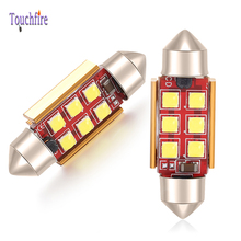 10Pcs C5W Festoon 31mm 36mm 39mm 41mm LED Canbus Car Bulb 3030SMD Error Free Auto Interior License Plate Light Dome Lamp white