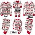 Natal Venda Quente 2016 Novos Dos Desenhos Animados Crianças Pijama Define Crianças Sleepwear Nightwear Pijamas Família Natal Da Criança Do Bebê Pijamas