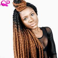 Qp Haar 12 Stränge Mambo Twist KEINE CORNROWS HÄKELN ZÖPFE synthetische Haar hohe temperature faser geflecht Häkeln Haar verlängerung