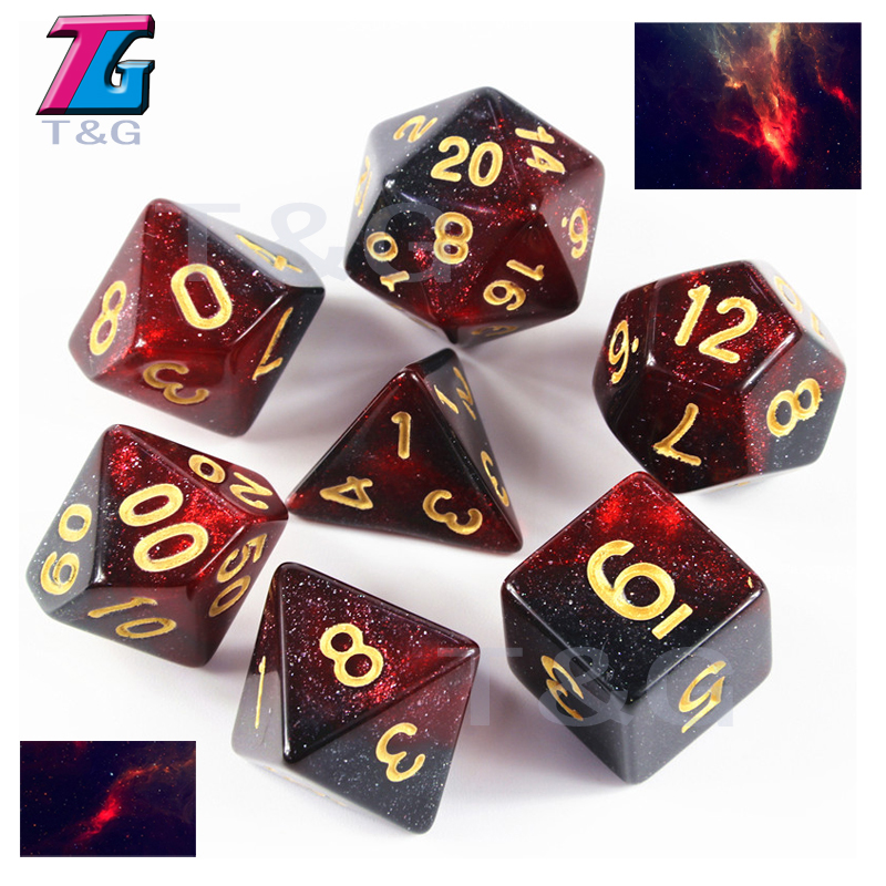 Galaxy Dice 16-20 MM Gift Board Dice Pop Gambling Tool Entertainment Dice & Gaming colorful 14mm 10pcs set acrylic transaprent d6 dice 6 sided gambling red blue green yellow purple dice for drinking board game