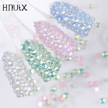 450pcs / Pack Mix size pink opal crystal Nail Art rhinestones for 3d charm flat glass Non Hotfix diy nail decorations
