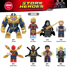 Singelförsäljning Marvel Super Heroes Building Blocks Avengers 3 Mini Brick Figures Kompatibel med Legoingly Thanos Iron Man Leksaker