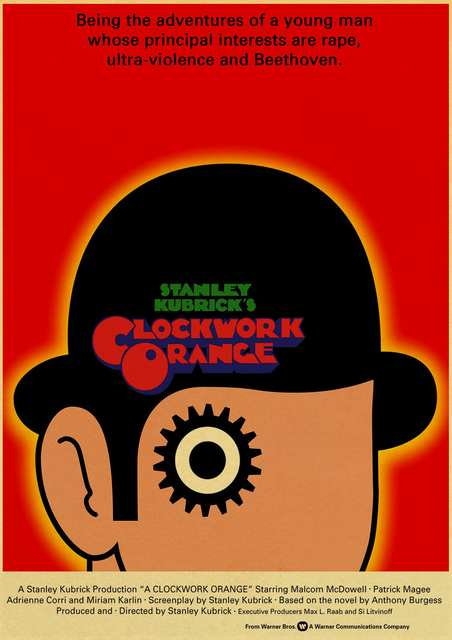 2001 Space Odyssey clockwork orange Lolita Kubrick Classic Movie Poster wall decorative painting home decor