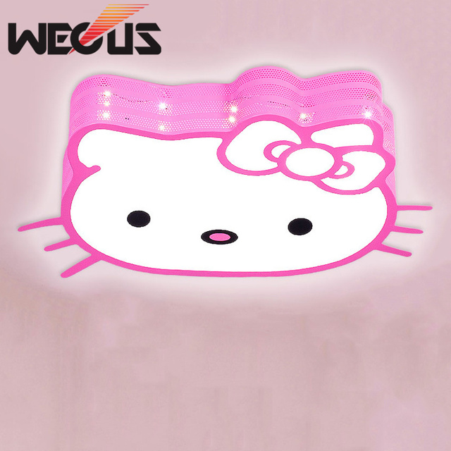 Fashion Led Cartoon Ceiling Lights Lovely Childrens Bedroom Lamp - Hello kitty lamps for bedroom