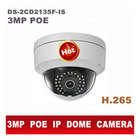 Original English DS 2CD2135F IS Hik 3MP Mini Dome PoE IP Camera Outdoor 1080P H 265