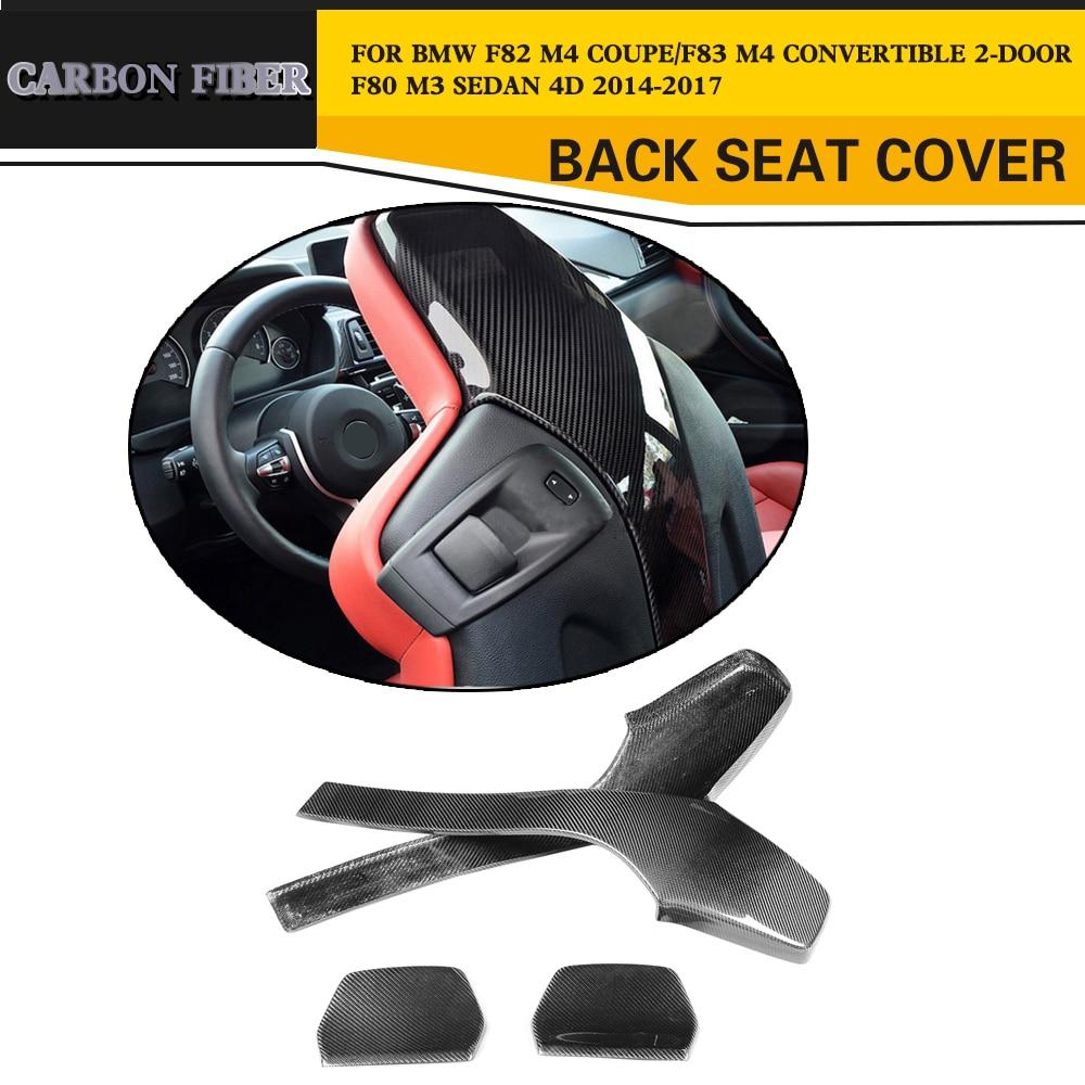 Углеродного волокна гоночный Внутренний Lazyback сиденья отделка крышки Стиль подходит для BMW F82 M4 купе 2014-2017