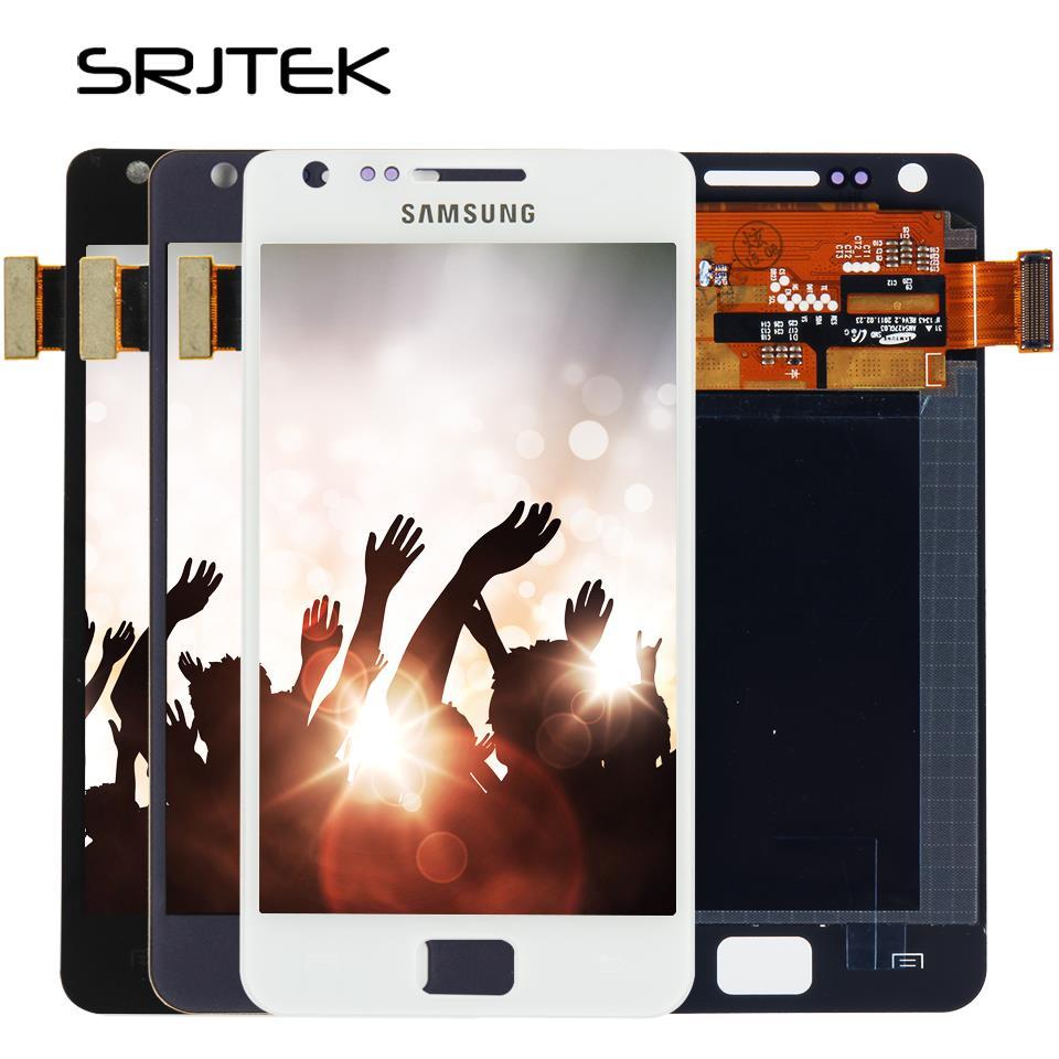 Экран для samsung Galaxy S2 I9100 ЖК-дисплей Дисплей + сенсорный дигитайзер Сенсор Стекло в сборе с рамкой S 2 я 9100 без Главная Кнопка