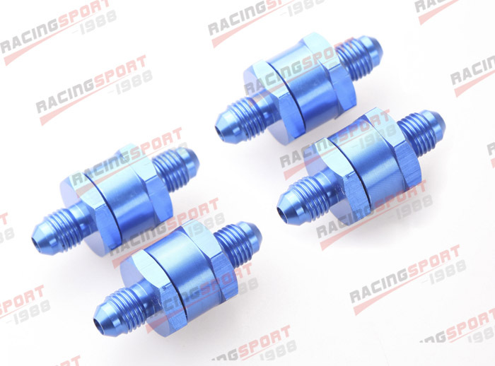 4 pièces 4AN Carburant Retour Un Clapet anti-Retour Essence Diesel D'alliage D'aluminium OWV-06-BLUE-4