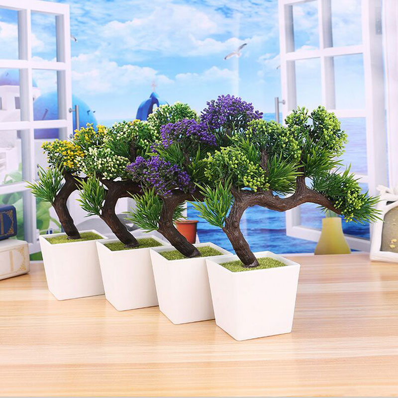 2017 New Real 2017artificial Pine Bonsai Tree For Sale