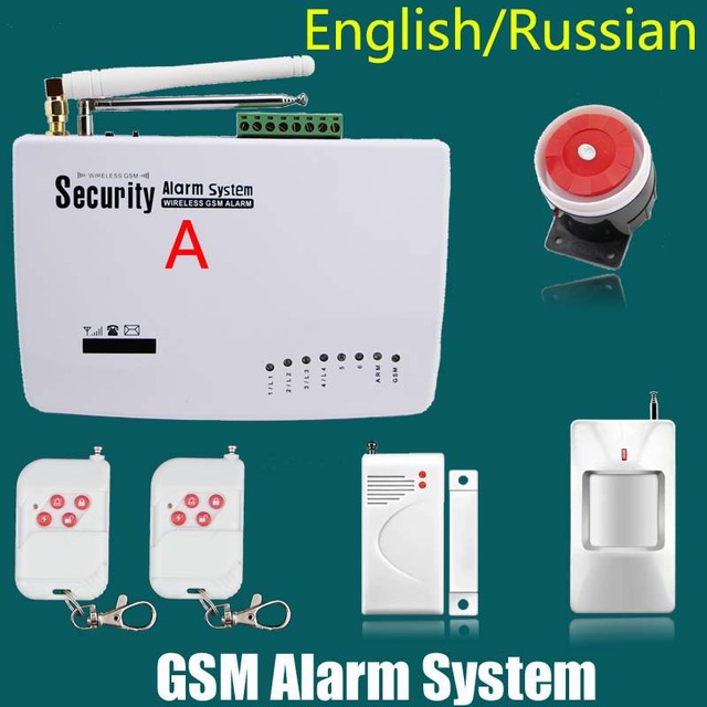 New Wireless/wired phone sim GSM Home Security Burglar Alarm System Auto Dialing Dialer Voice Prompt Alarm Sensor kit