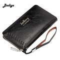Brief Design Business Clutch Purse Vintage European Style Mens Long Wallet Purse Credit Card Holder Zipper Design Male Billetero