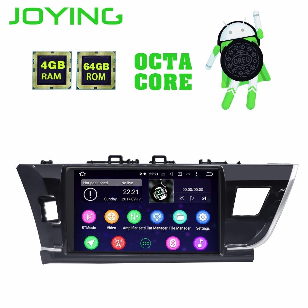 Joying Android 8.1 pour toyota corolla 2014-2016 10.1 2 din voiture radio DSP navigation autoradio GPS carplay PGT 4 GB + 64 GB CFC BT