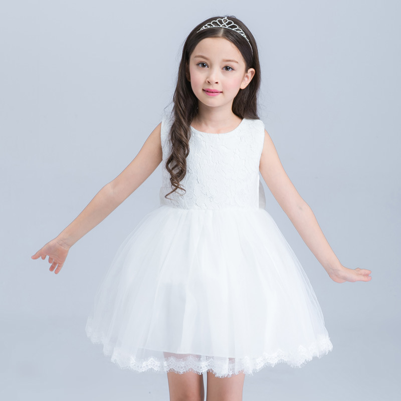 Girls Summer Sleeveless Lace Dress 3-12Years Kids Fancy Evening Party Princess Tutu Dresses Ball Gown Carnival Costumes Vestidos berngi red princess children fancy dress ball gown lace wedding dresses girls kids party wear clothes for 3 12 years